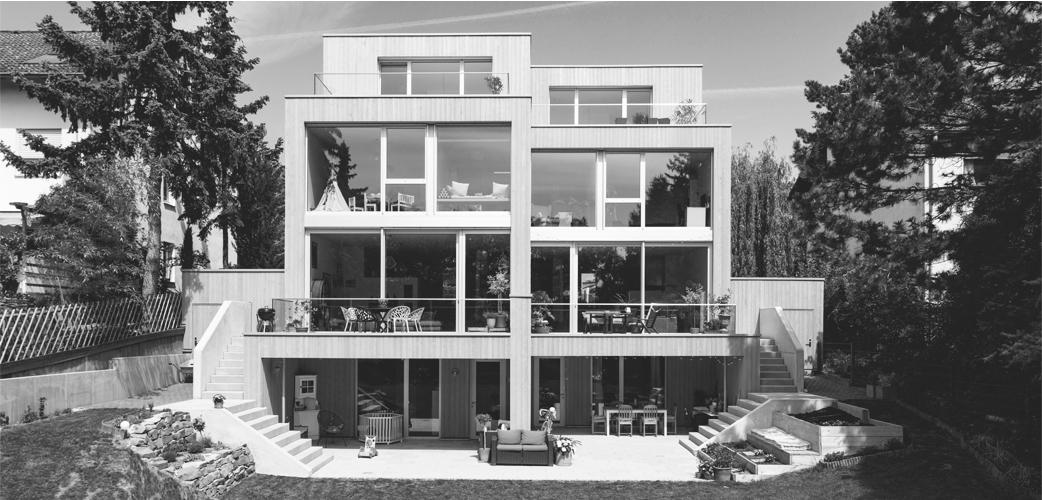 Neubau Doppelhaus am Hang